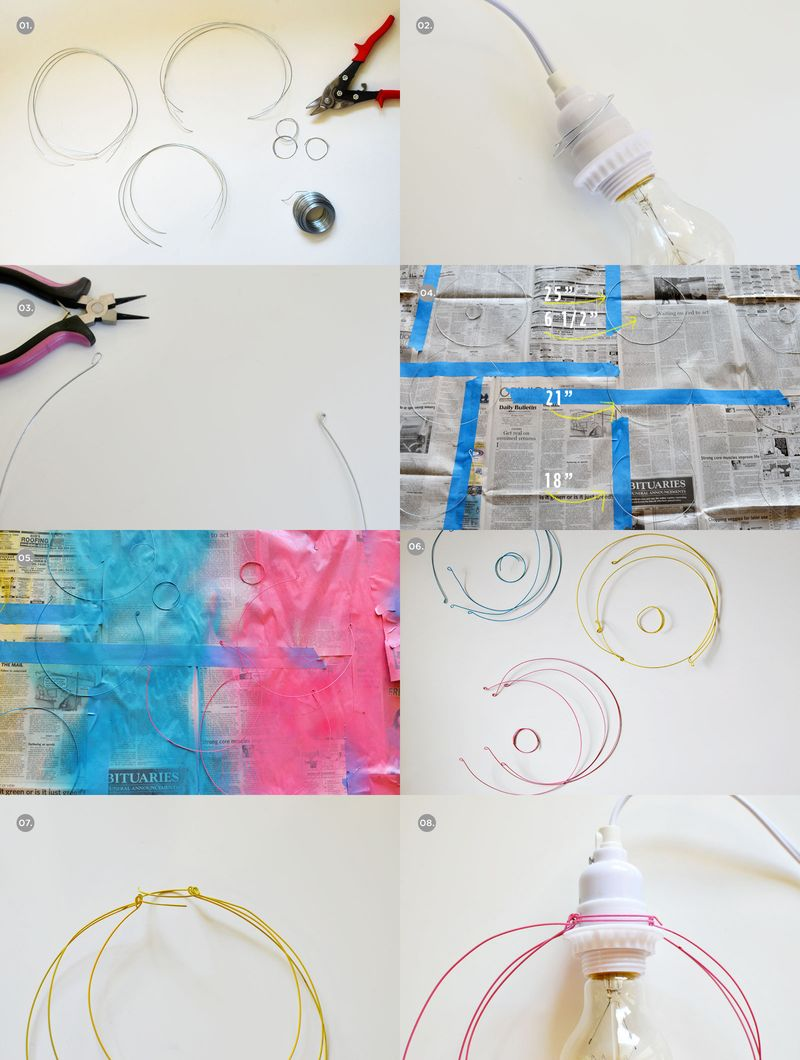 Halo Light Pendant DIY (steps)