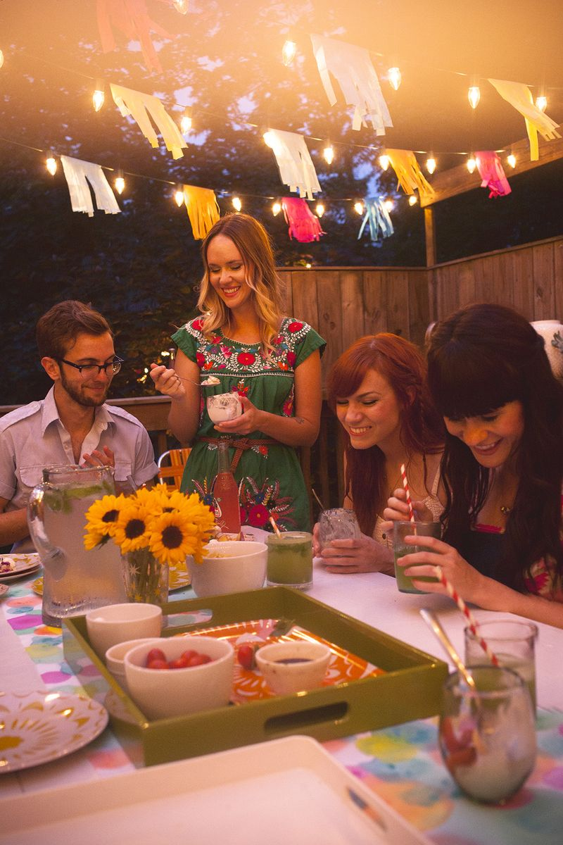 A Colorful Summertime Back Porch Party www.abeautifulmess.com 1