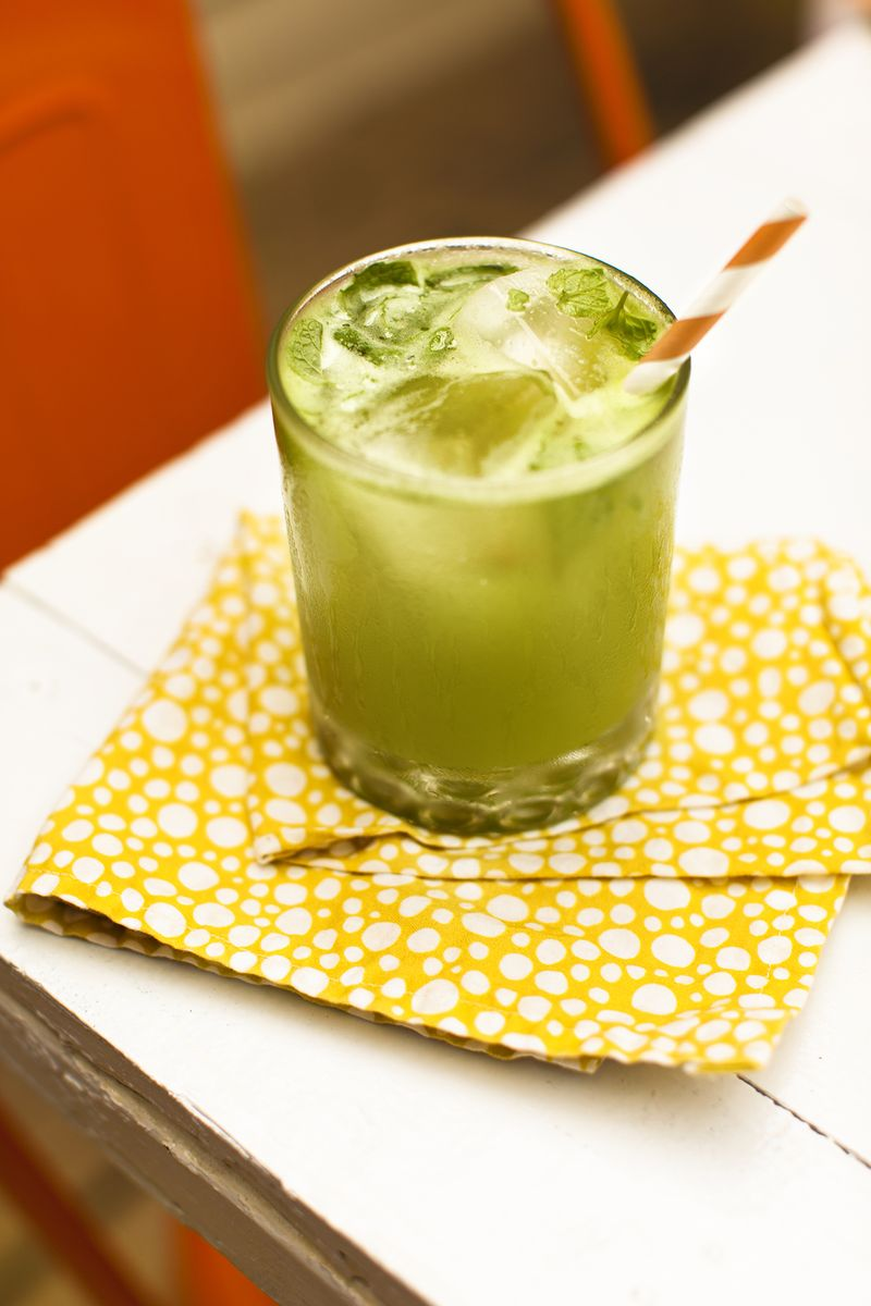 Summer Nights Cocktail (SO good as a cocktail or a mocktail!) www.abeautifulmess.com