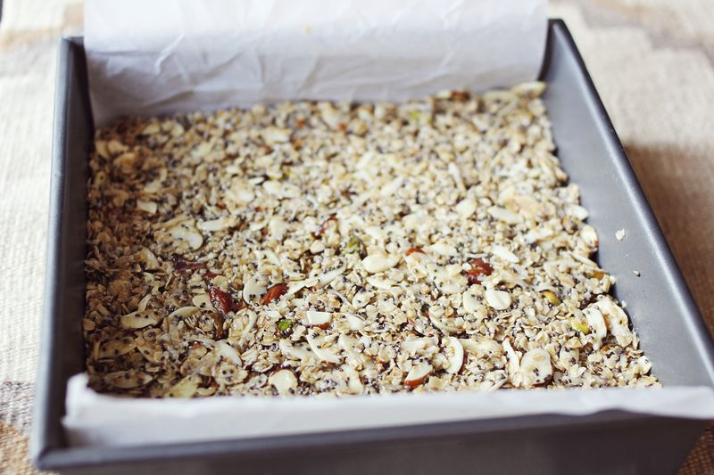 Homemade granola bar recipe