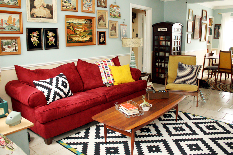 Such a fun living room!