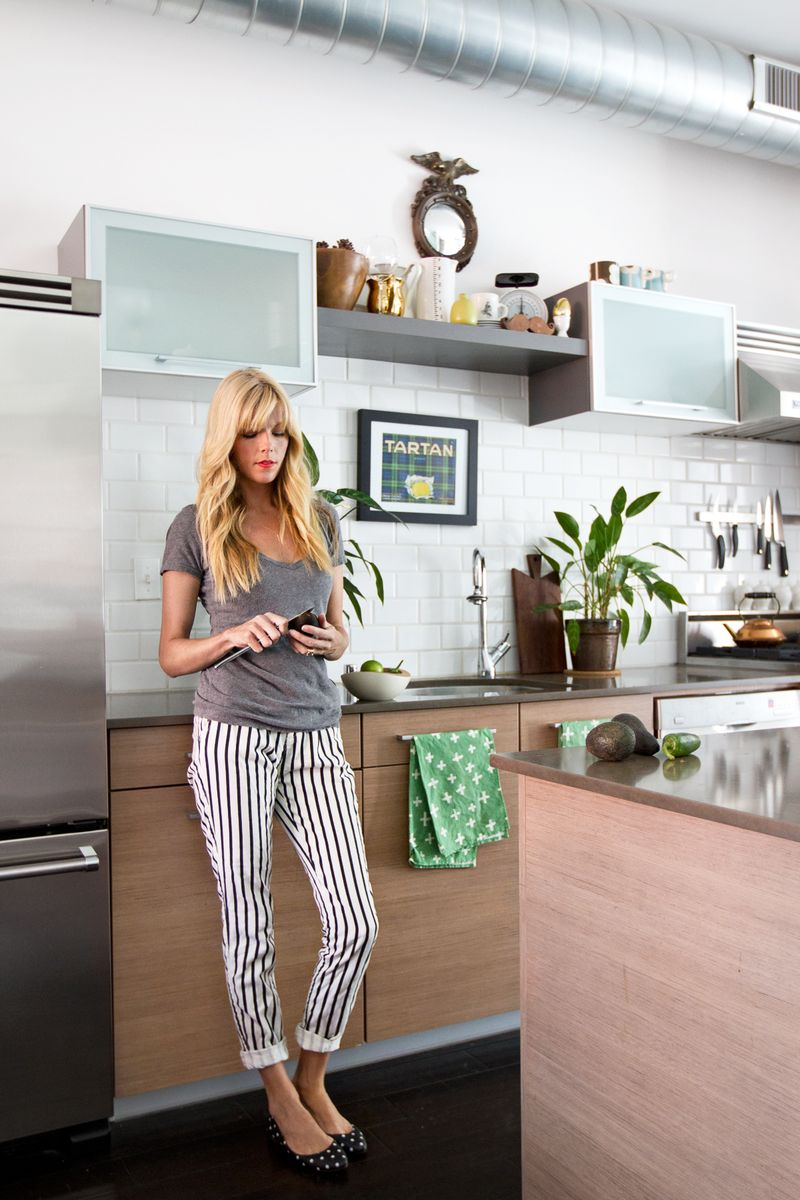 Sarah Sherman Samuel of Smitten Studio in her gorgeous kitchen