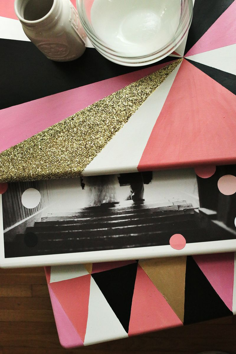 DIY Geometric Nesting Tables via abeautifulmess.com