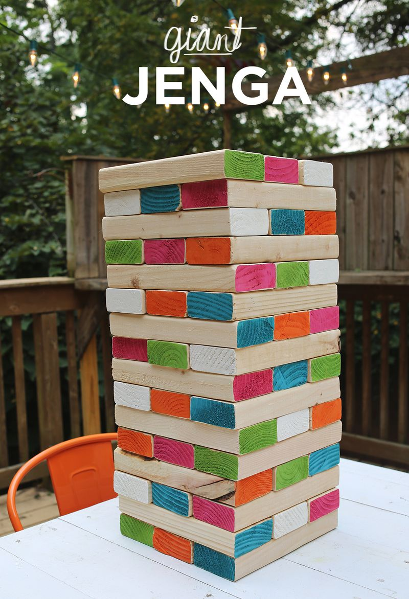 Giant Jenga A Beautiful Mess
