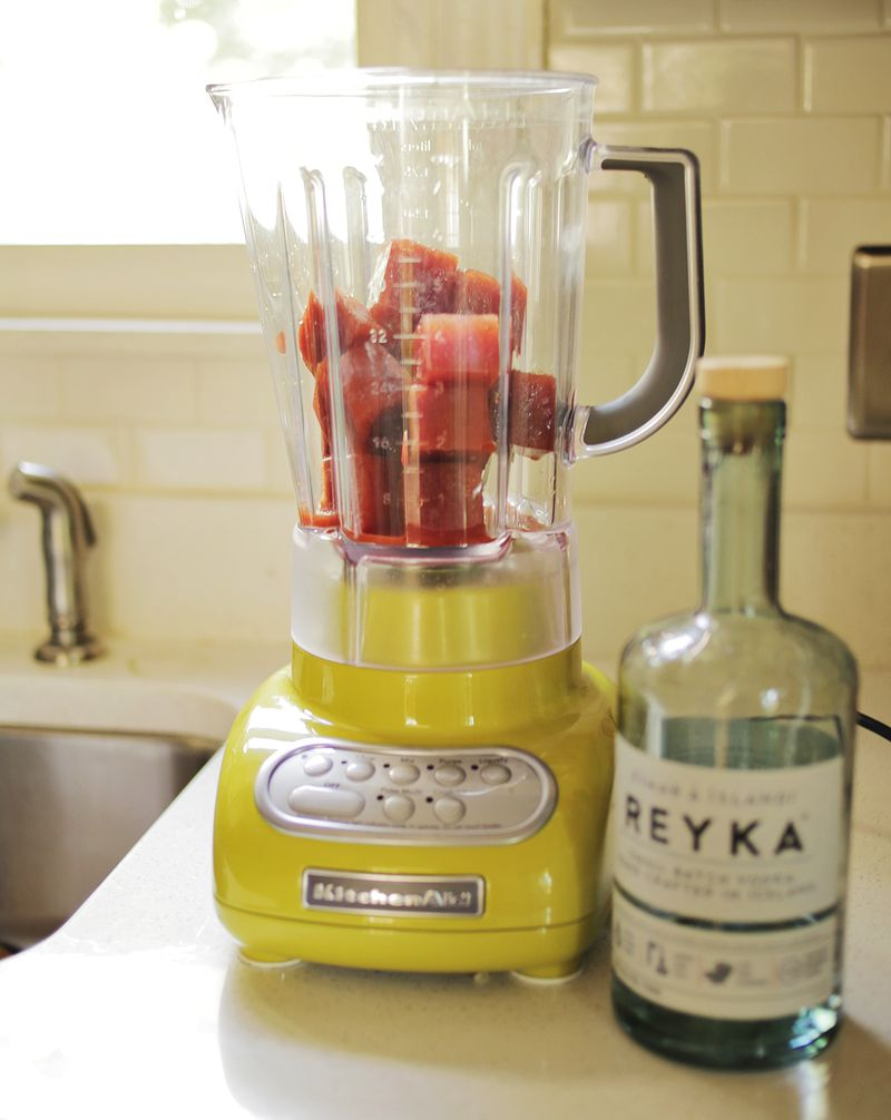 Freeze bloody mary mix in ice cubes for an awesome blended cocktail!