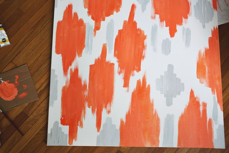Abstract painting that anyone can make! abeautifulmess.com