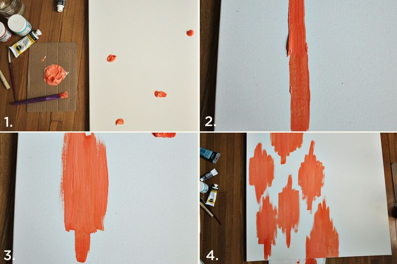 Abstract painting steps