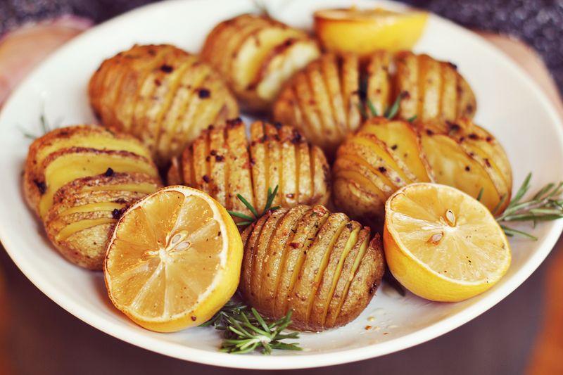 Accordian potatoes