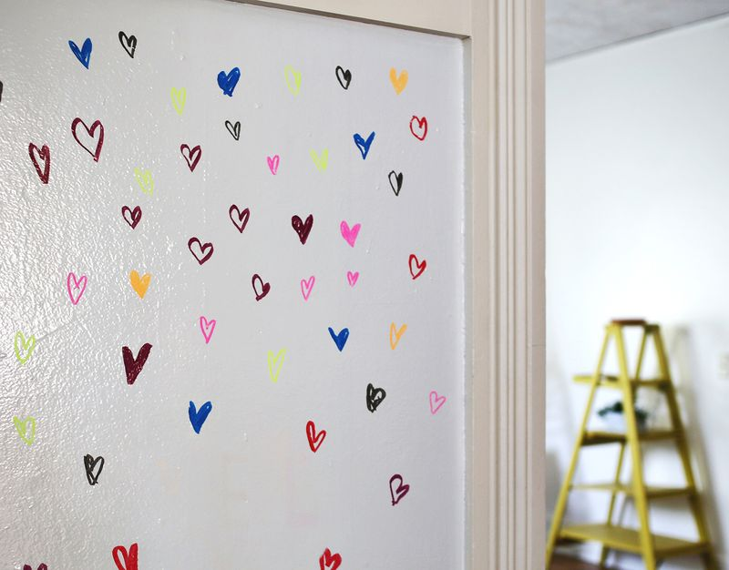 Try This- Paint A Wall With Whiteboard Paint abeautifulmess.com