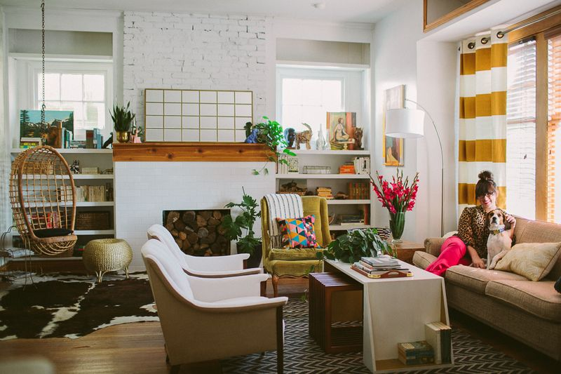 Kelley Howley in her gorgeous living room