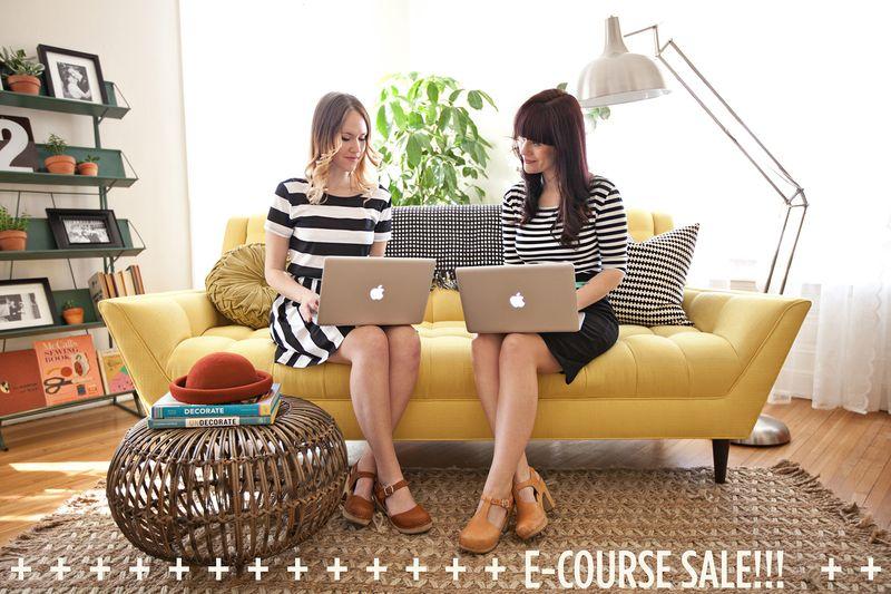 E-Couse Sale over at abeautifulmess.com