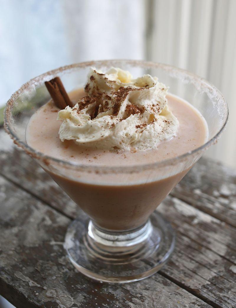 Pumpkin Cheesecake Martini via abeautifulmess.com