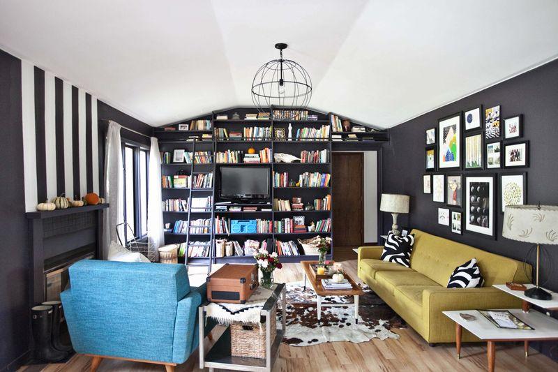 Emma Chapman's living room abeautifulmess.com