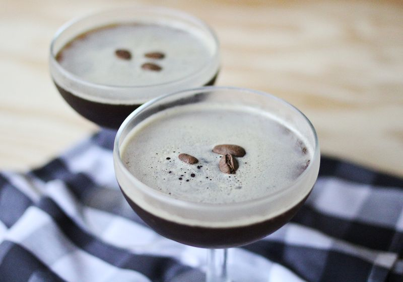 Three ingredient espresso martini
