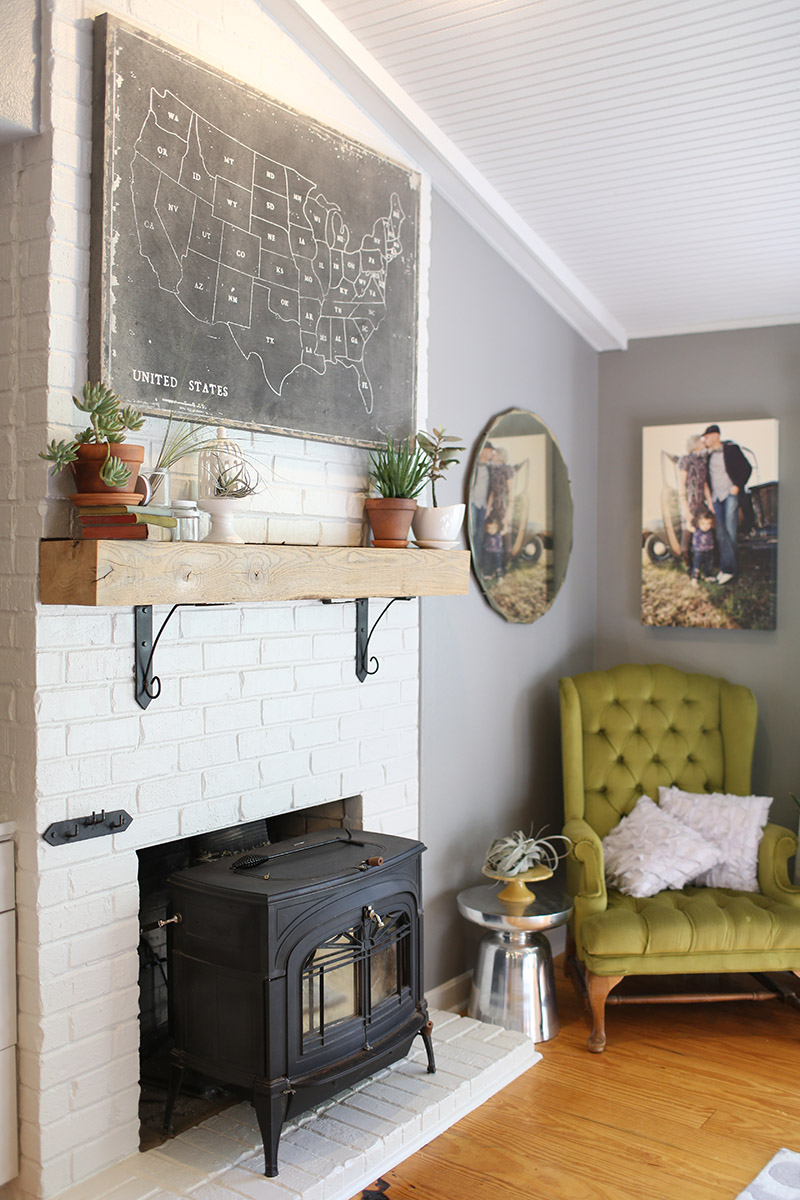 At Home With Kelly Moore Clark via A Beautiful Mess