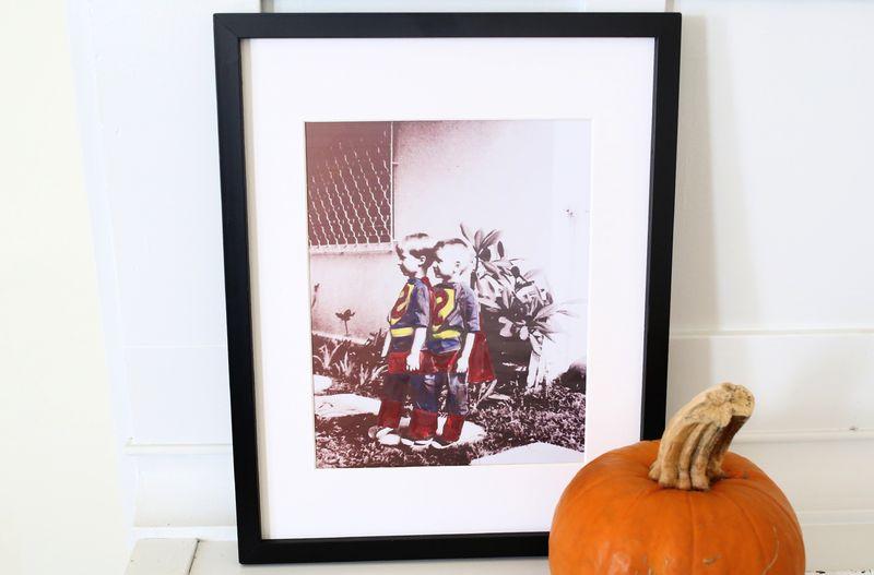 Hand colored vintage halloween photo