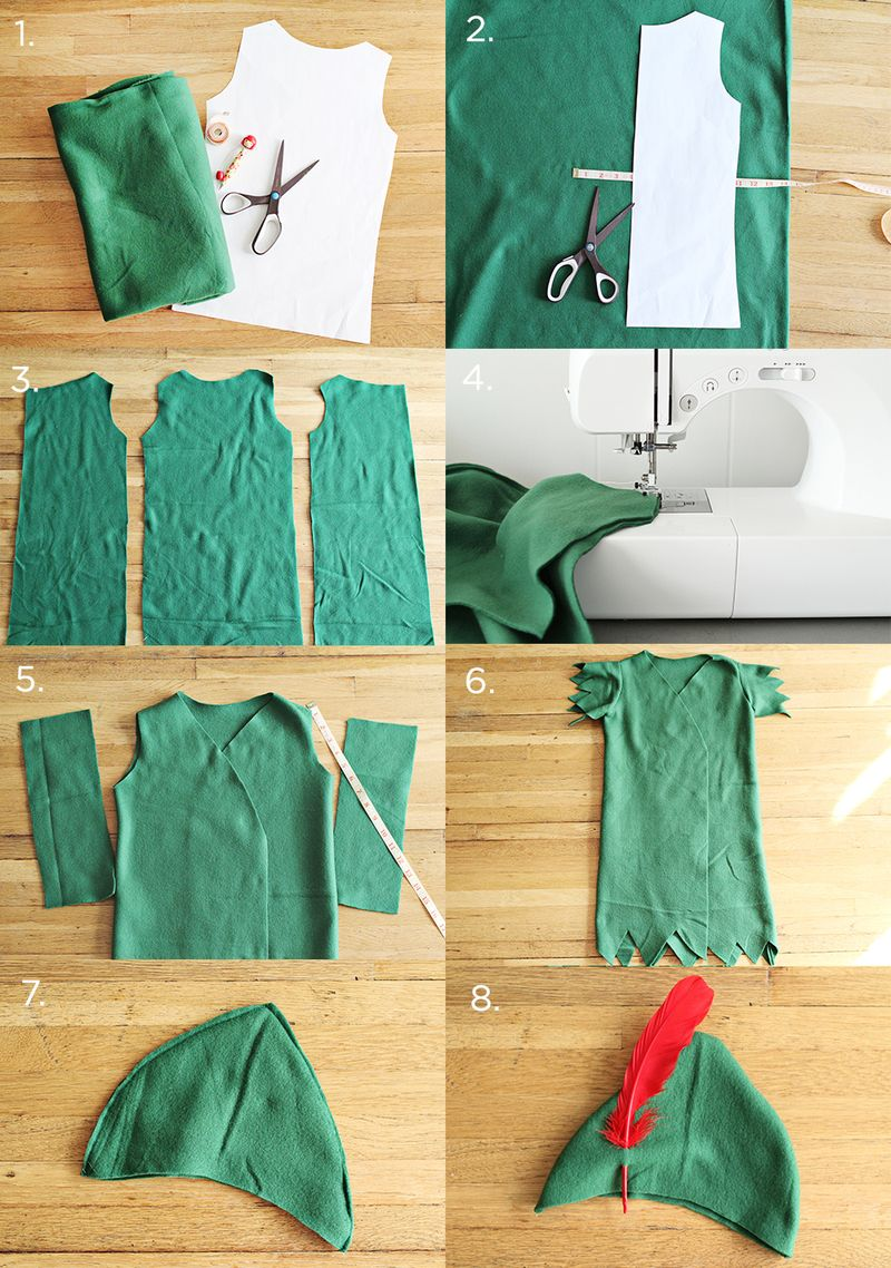Peter Pan Costume DIY Steps