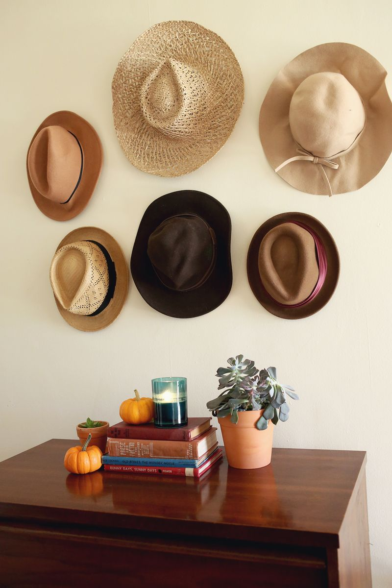 Try This- hats in place of artwork!