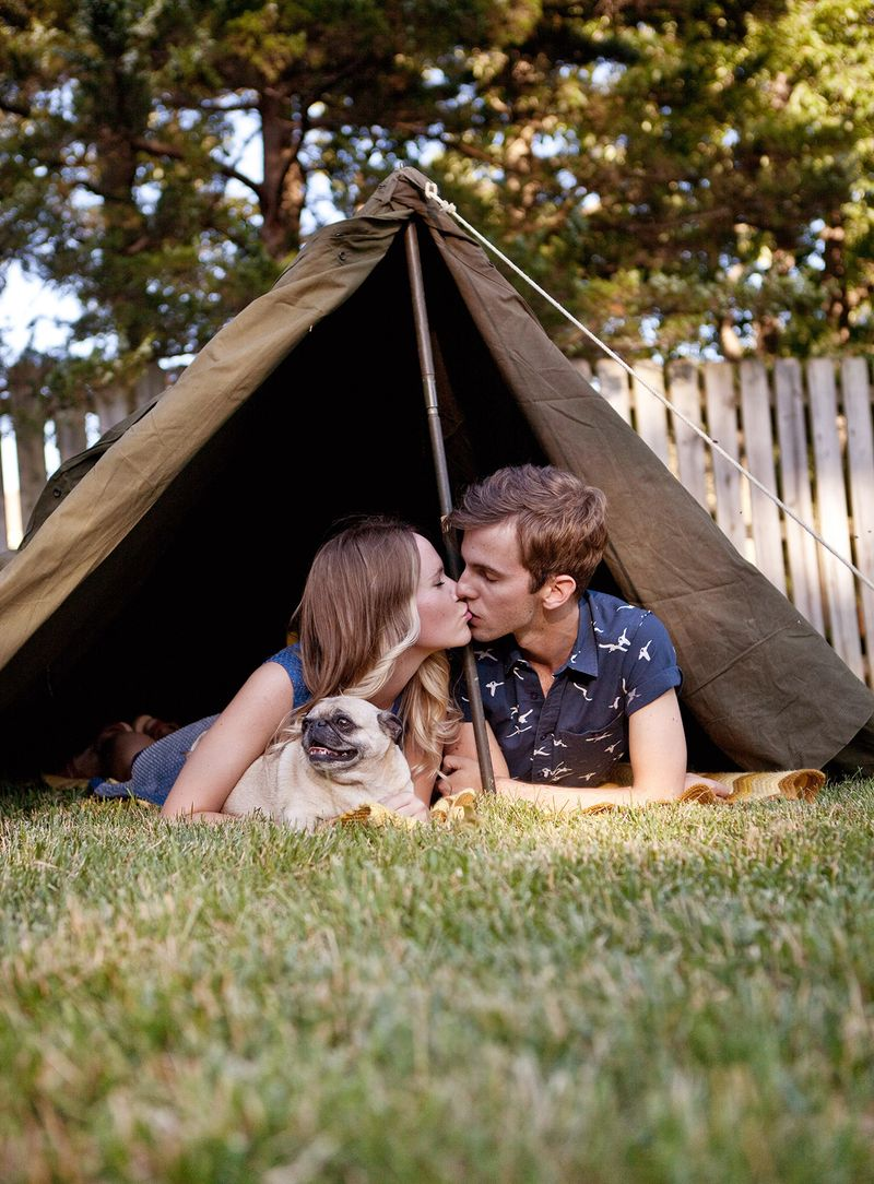 Army tents are for lovers