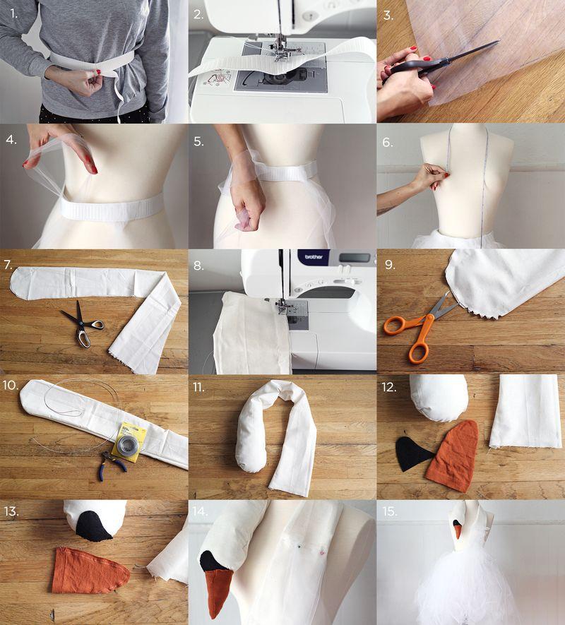 Bjork Swan Dress Costume