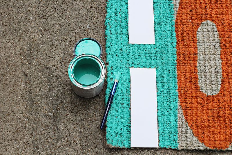 Diy welcome mat