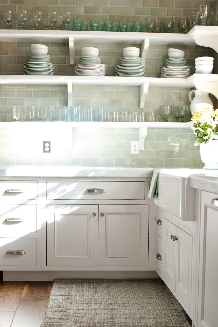 Open shelving in the kitchen!