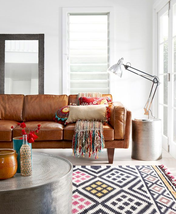 Leather couch crush!
