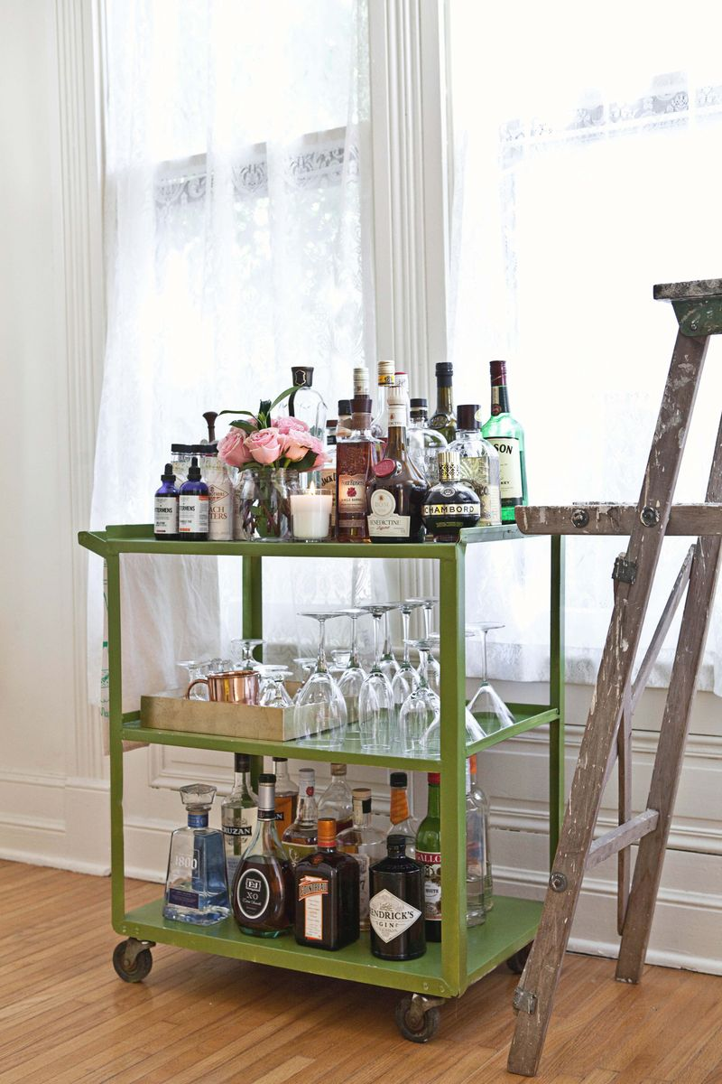 Cute bar cart!