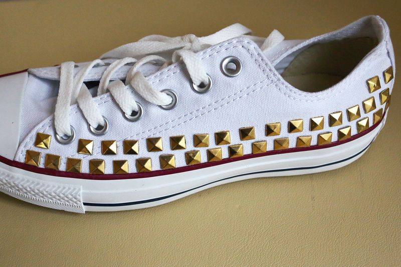 c9e0277368c5 Make Your Own Studded Converse - A Beautiful Mess