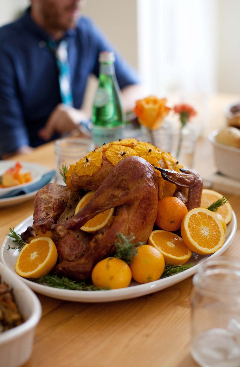 Oranges And Herbs Roasted Turkey A Beautiful Mess