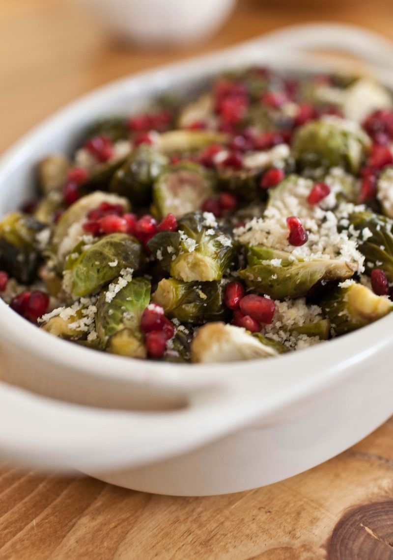 Pomegranate brussels sprouts