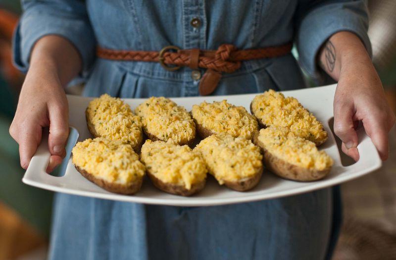 Twice Baked Potatoes abeautifulmess.com
