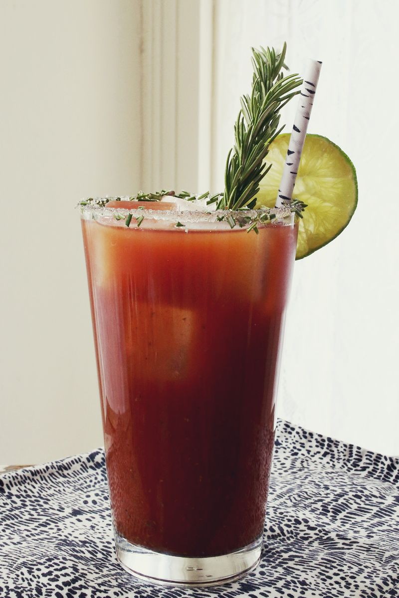 Rosemary Bloody Mary- click through for the recipe!!