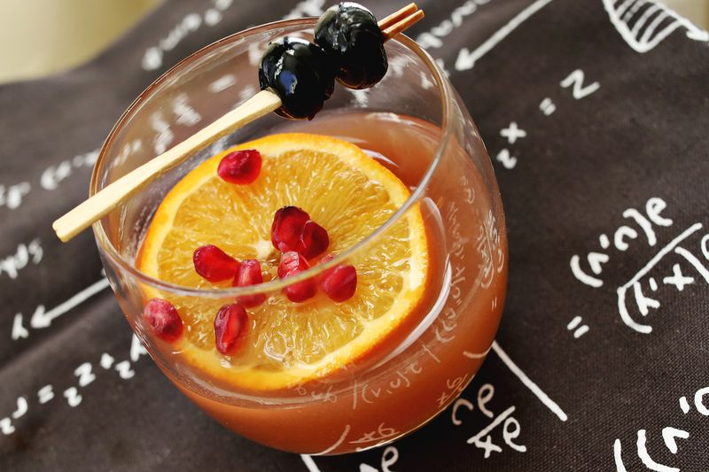 Winter Fruit Whiskey Smash