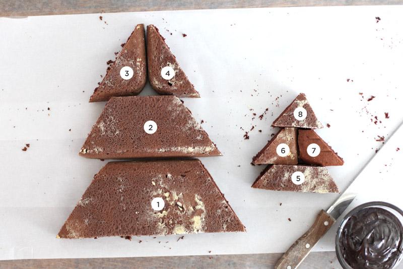 6pcs/set christmas tree cake stencil wedding party cake cookie.
