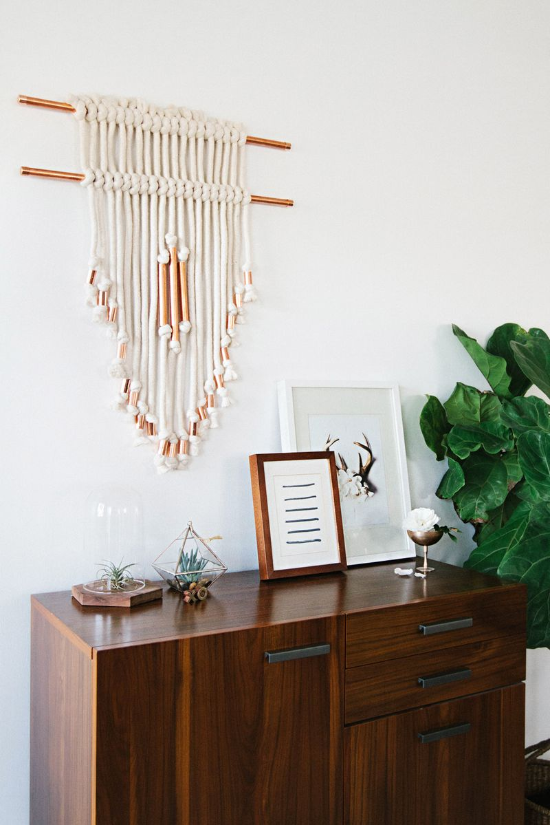 Copper Pipe Wall Hanging DIY