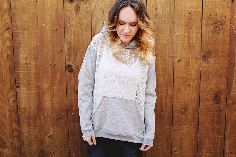 Lace hoodie