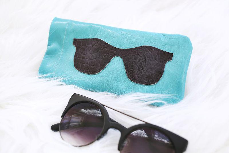 Leather sunglasses holder diy abeautifulmess.com