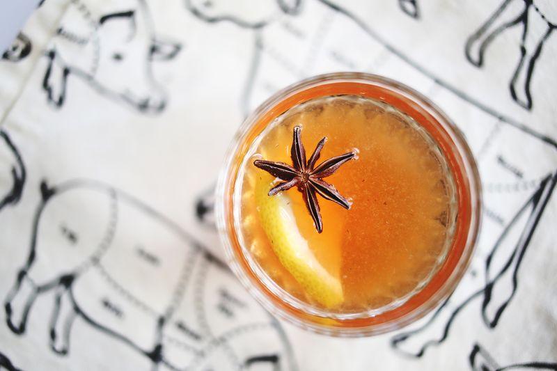Vanilla Bean Whiskey Cocktail