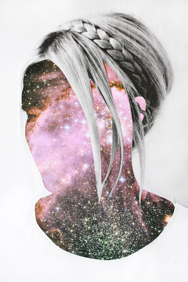 Laura's Galaxy Face Art abeautifulmess.com