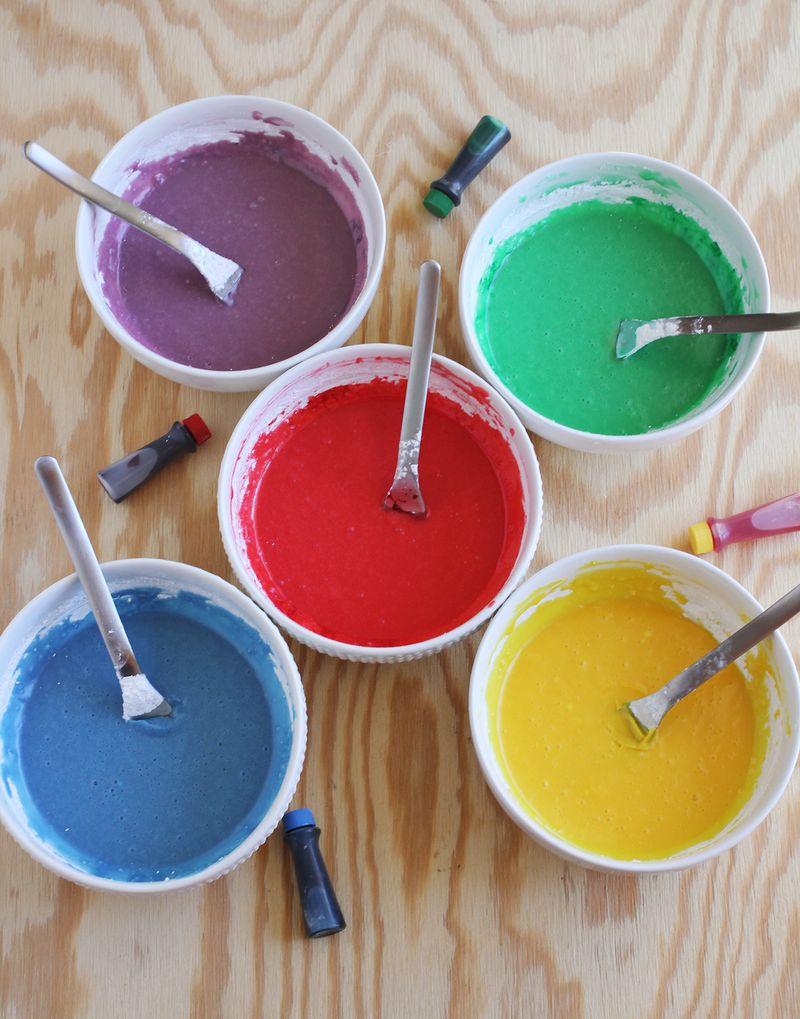 Colorful donut glazes