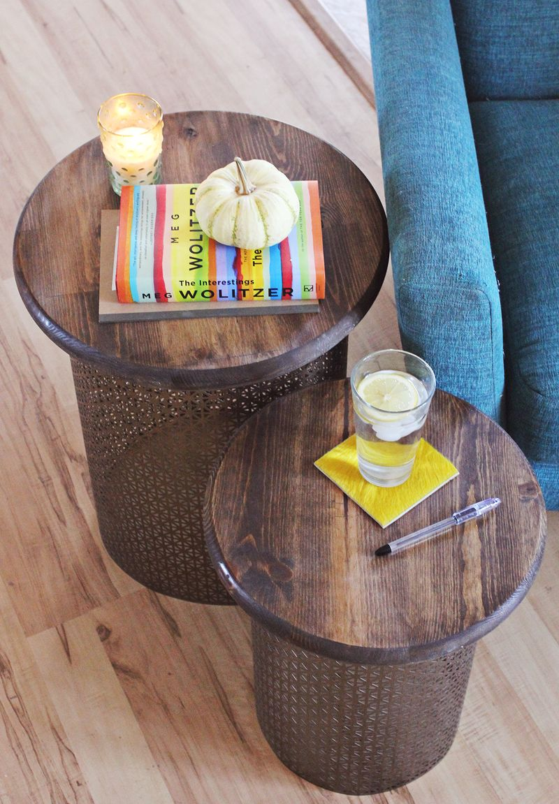Retro style side tables