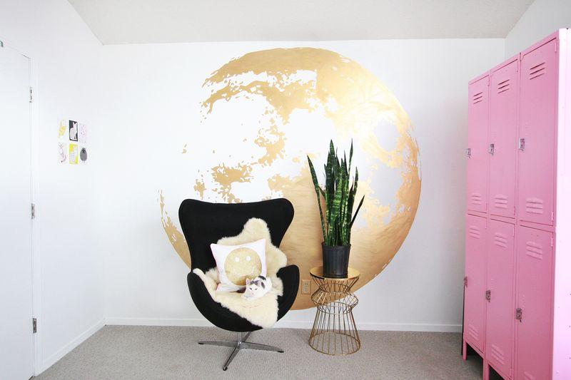 Gold Moon Wall abeautifulmess.com