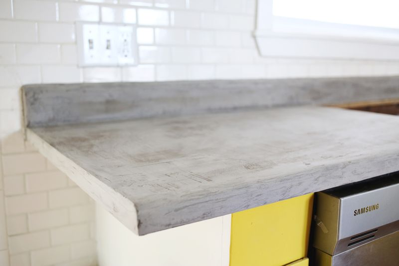 Concrete Countertop Diy Abeautifulmess