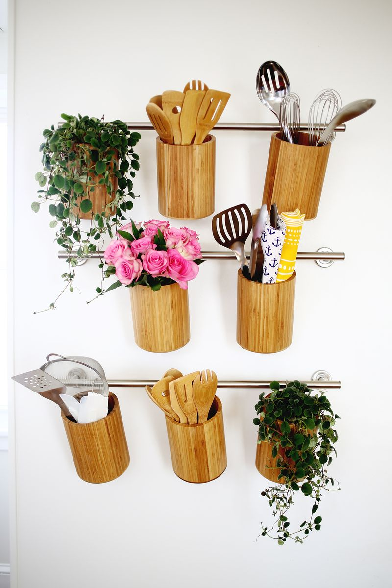 Vertical Kitchen Organization abeautifulmess.com
