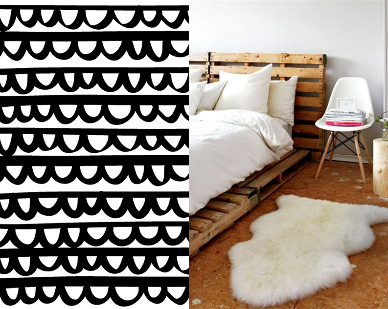 Pretty pattern and bed frame