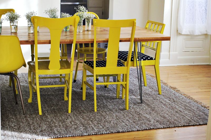 Mis matched chairs