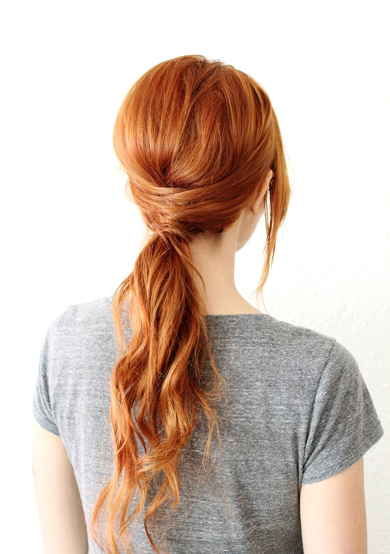 Terrific Crisscross Ponytail A Beautiful Mess Natural Hairstyles Runnerswayorg