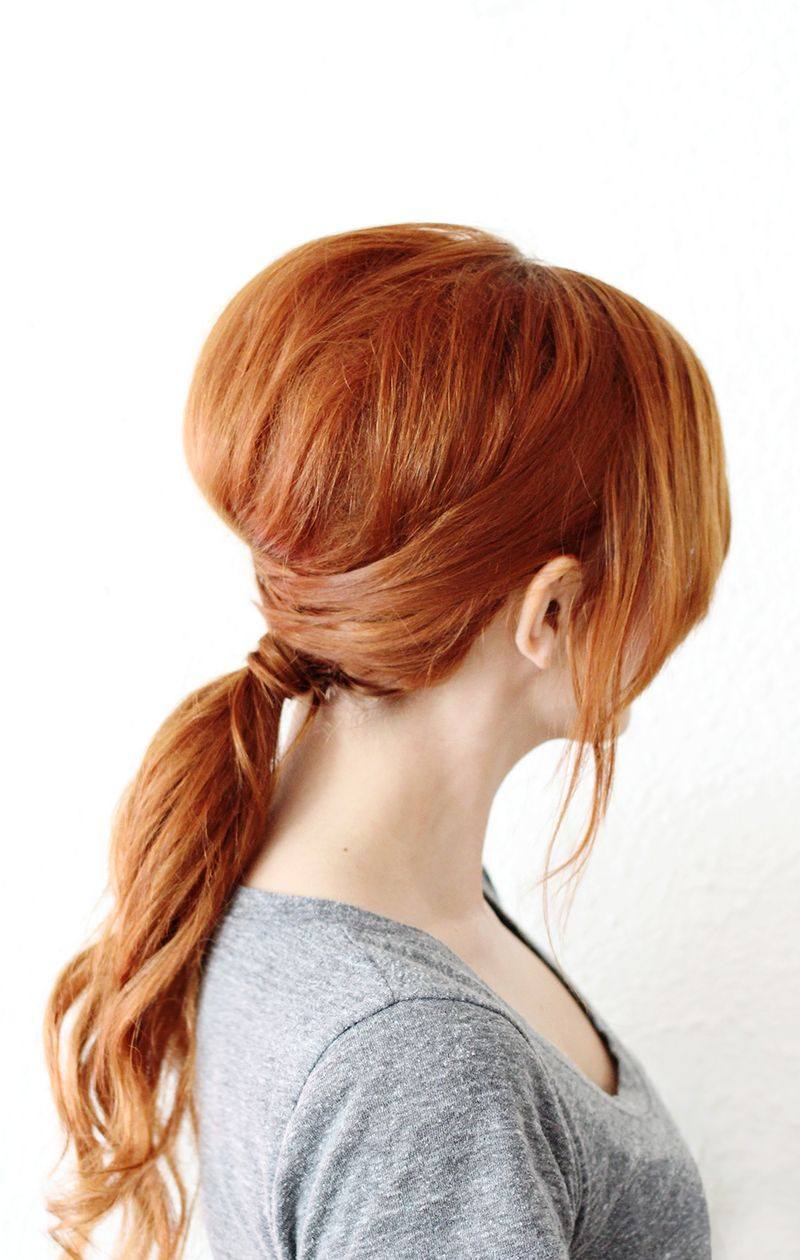 Simple Criss Cross Ponytail (click through for full instructions)