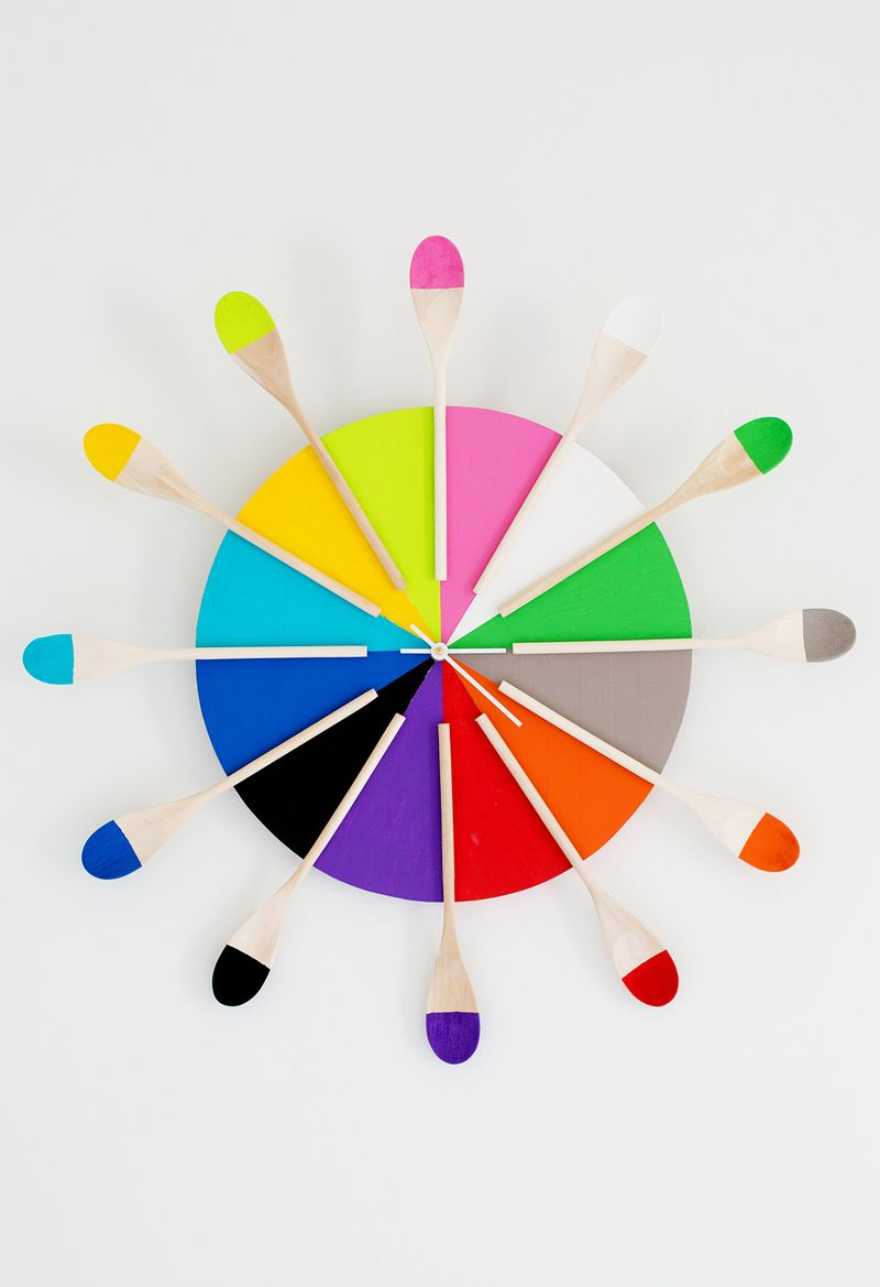 Colorful Kitchen Clock Diy A Beautiful Mess